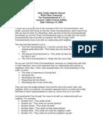 The Commandments 1-3 Class Lecture