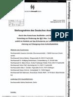 BT Deutscher AnwaltVerein Stellungnahme Lebensunterhaltssicherung Juni2010