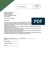 CARTA  DE PRESENTACION  GLENIS