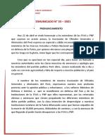 COMUNICADO N° 33– 2021