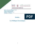 A. EL HIRI - Support n°2- Politiques économiques - SEG - Parcours Economie et gestion -Chapitre I - Sections I et II