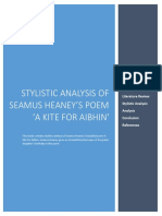 Stylistic Analysis of Seamus Heaney's Poem A Kite for Aibhin