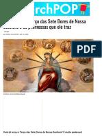 Como rezar o Terço das Sete Dores de Nossa Senhora e as promessas que ele traz