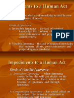 Impediments to a Human Act