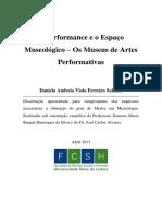 A Performance e o Espaço Museológico Os Museus de Artes Performativas