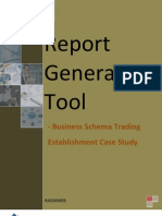 Report Generation Tool - BST Case Study