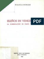 Borges Analola - Isleños En Venezuela
