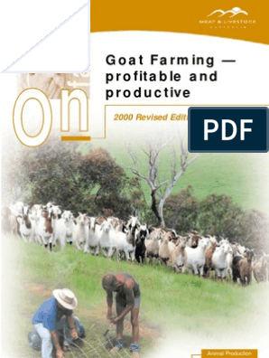 O On n: Goat Farming — profitable and productive