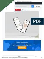 Maquete frontal de telefones 3d mínima levitando _ PSD Grátis