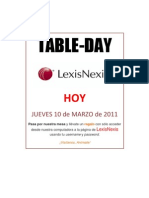 Table Day Lexis 10 Marzo 2011
