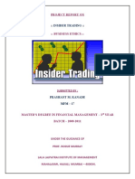 INSIDER TRADING PROJECT