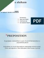 PREPOSITIONS of ENGLISH
