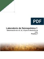 Determinación de ∆H, ∆G, ∆S para la disolución de urea. Practica 7