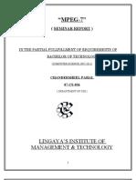 Seminar Report on Mpeg-7