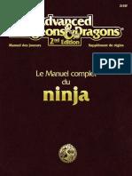 AD&D2 Manuel Complet du Ninja