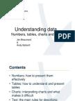 Understanding and presenting data