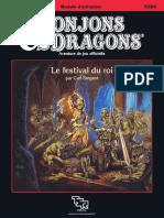 D&D Module B11 Le festival du Roi