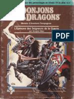 D&D Module CM1 L'Epreuve des Seigneurs de la Guerre
