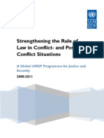 UNDP Strengthing the Rule of Law in Conflict and Post Conflict Situations