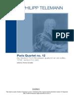 Georg Philipp Telemann - Paris Quartet TWV 43e4, e Moll