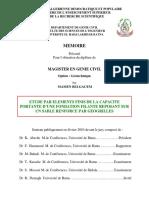 ETUDE PAR ELEMENTS FINIS DE LA CAPACITE PORTANTE D_UNE FONDATION FILANTE REPOSANT SUR UN SABLE