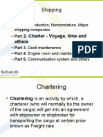 Shipping cost & Charter Party