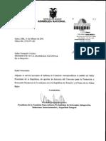 Informe Sobre Pedido Para Que an Apruebe Denuncia Del TBI Ecuador - Paises Bajos