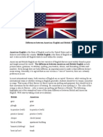 A vs B English