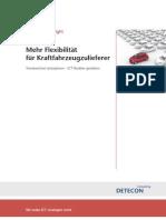 Detecon Spotlight Mehr Flexibilität für Kraftfahrzeugzulieferer. Trendwechsel antizipieren – ICT flexibler gestalten