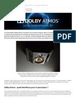 Dolby Atmos, home-cinéma, son 3D, surround, multicanal