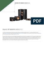Klipsch RP-8060FA HCM 5.1.2 - Packs d_enceintes grand spectacle