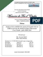 Analyse de La Stabilité Des Parois d'Un Puits Foré en UBD Au Niveau Du Champ de Hassi Messaoud-1 (1)