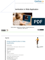 Strong Authentication in Web Application / ConFoo.ca 2011