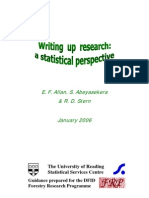 Writing up research - a statistical perspective