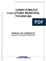 CONCURSO PÚBLICO PREFEITURA MUNICIPAL DE TUCANO-BA