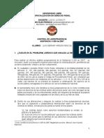 TALLER CONTROL DE JURISPRUDECIA. ESTUDIANTE LUIS HERNAN VARGAS PENCUE  ESPE DERECHO PENAL UNILIBRE CALI