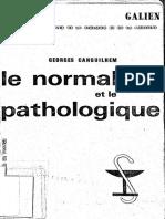 Georges Canguilhem - Le Normale Et Le Pathologique-Presses Universitaires France (1966)