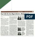 """falter - Eine Falle für den Abgeordneten """"Königstiger"""""""