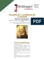 Heidegger - Holderlin y la esencia de la poesia