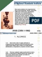ANSI Z 359. 1 1992