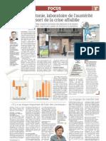 """Le Figaro"" par V. Dombrovska paveikto (franču valodā)"
