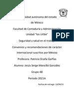 Convenios y recomendaciones de carácter internacional suscritos por México