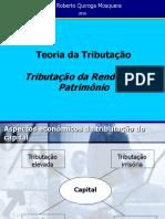 Tributação Da Renda e Do Patrimônio - Prof. Quiroga