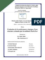 Evaluation de la performance sismique d une structure existante par la méthode Push-Over