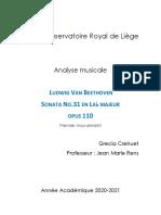 analisis de la sonata de beethoven n.31