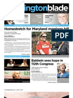 washingtonblade.com - volume 42, issue 10 - march 11, 2011 - Marriage in Maryland, DOMA, Bullying, D.C. Marriage Anniversary, Reel Affirmations, Gay News, Gay Arts & Entertainment, Gay Nightlife