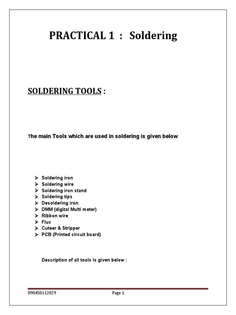 Soldering Precti Printed Circuit Board Iron