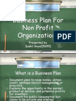 business plan for non-profitable organizations