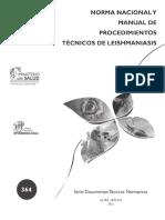 Norma Nacional y Manual de Procedimientos Técnicos de Leishmaniasis-2015