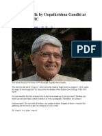 Respect- A LECTURE BY GOPALKRISHNA GANDHI